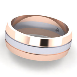 Rose & White Gold Two Tone Band