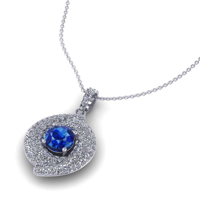 Ceylon Sapphire & Pavé Set Diamond
