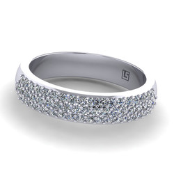 Pavé Set Low Half Round Band