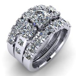 "Radiant Diamonds in ""U"" Settings"