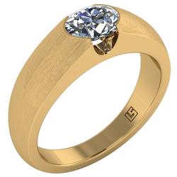 oval cut engagement ring semi bezel yellow gold 0112 YG 1