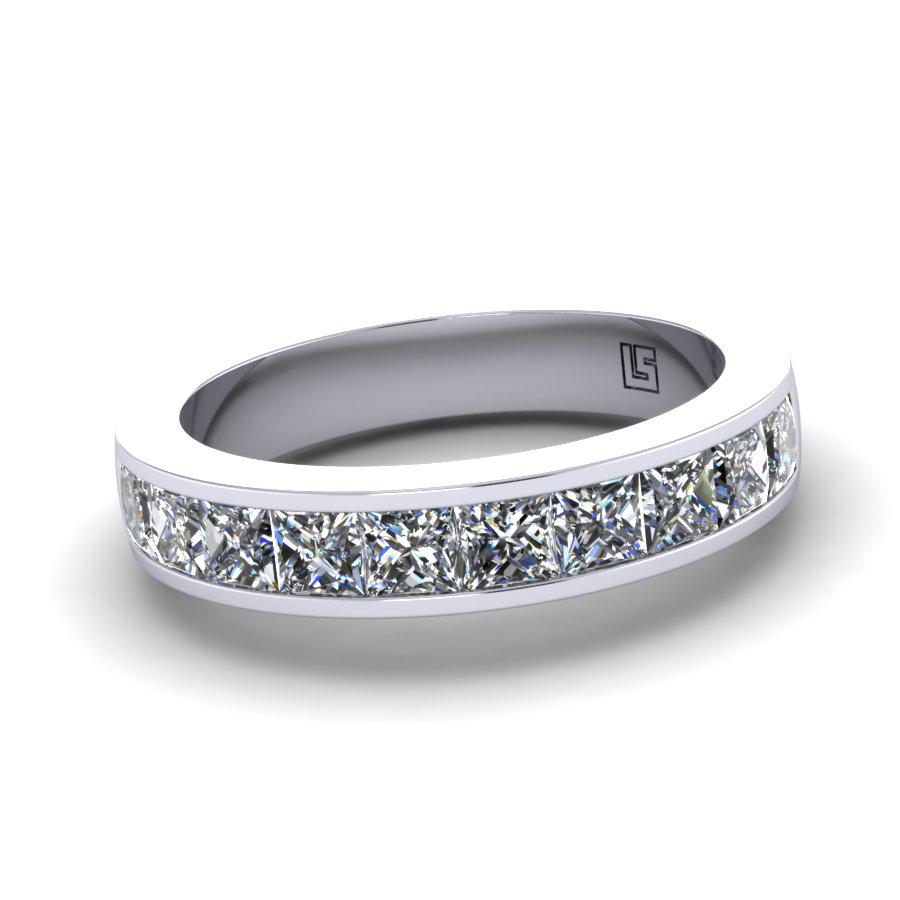 Channel Set Princess Cut Diamond