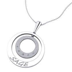 """White gold """"Sage"""" Diamond Pendant"""