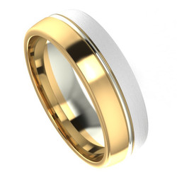 Yellow & White Gold Two Tone Band