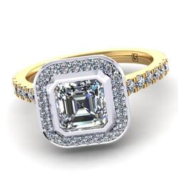 Emerald Cut Diamond Bezel Cluster