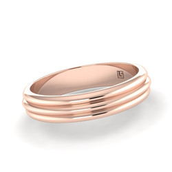 Rose Gold Triple Wire Convex Band