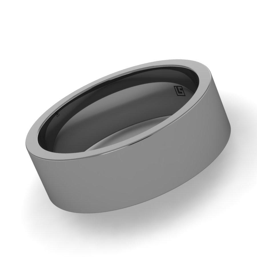 Titanium Flat Band, Brushed Finish