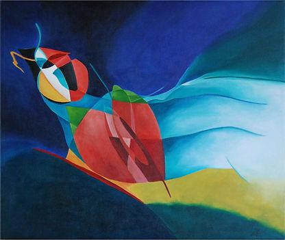 Vogel  Art Kunst abstrakte Malerei