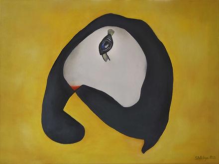 Elefant und Fliege Hidden Art Kunst abstrakte Malerei