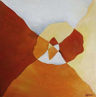 Rot Hidden Art Kunst abstrakte Malerei
