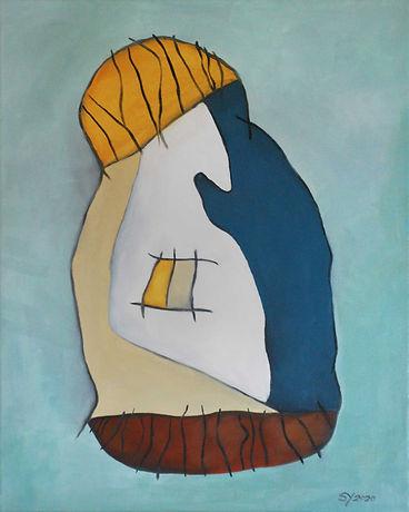 Mit Mütze Hidden Art abstrakte Malerei