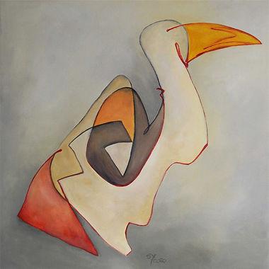 Gans Hidden Art Kunst abstrakte Malerei