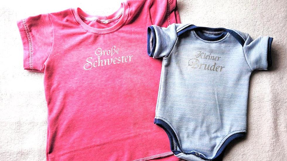 Geschwister-Shirt + Body