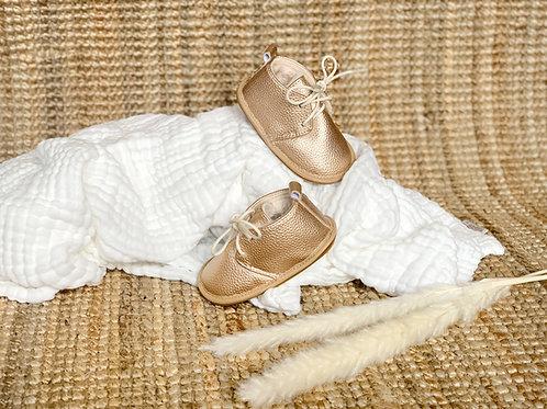 Les Pirouettes, boots en cuir doré