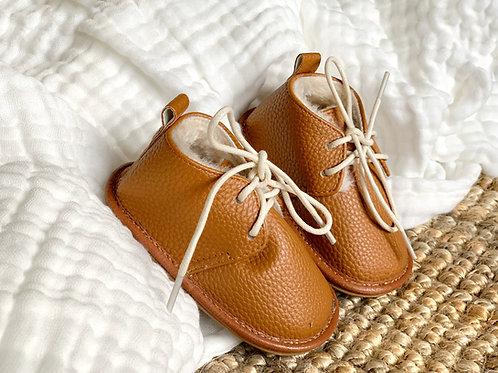 Les Pirouettes, boots en cuir camel