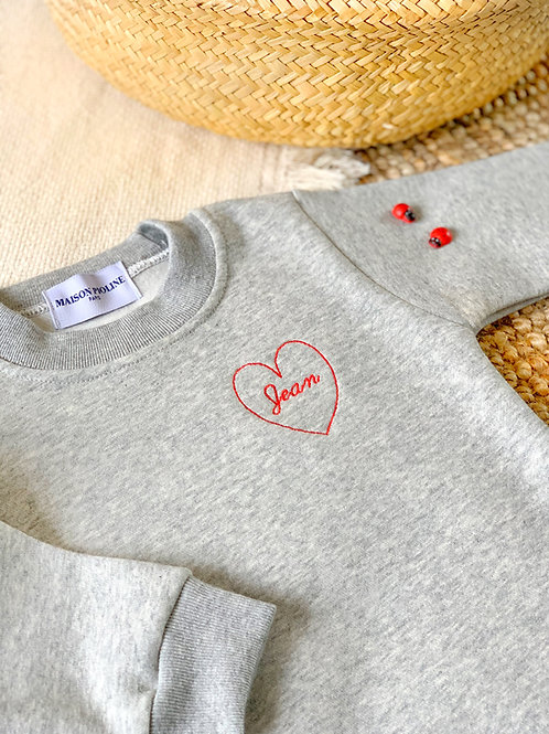 Collection capsule « love »sweat-shirt