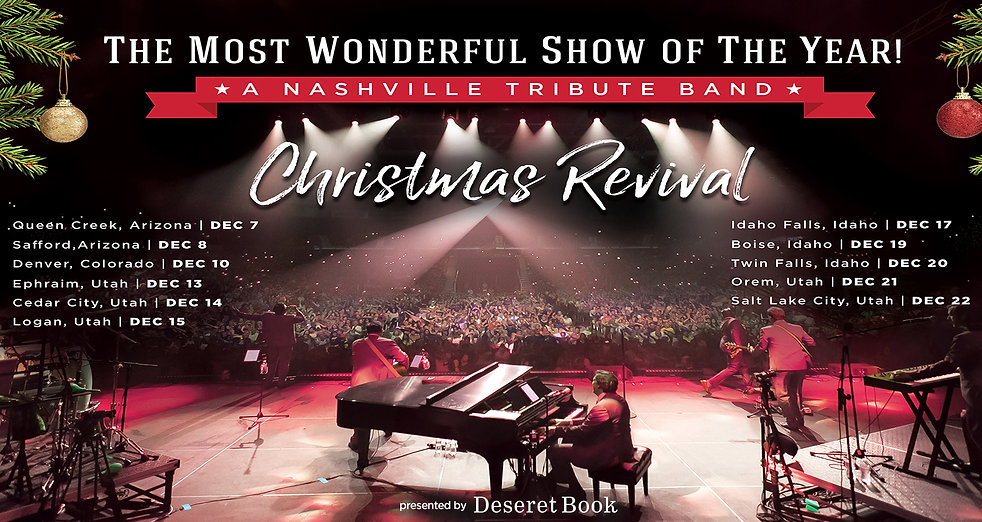 Nashville Tribute Band Christmas Revival Tour dates 2018