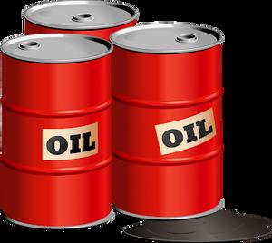 Red Barrel of Crude Oil Petrol