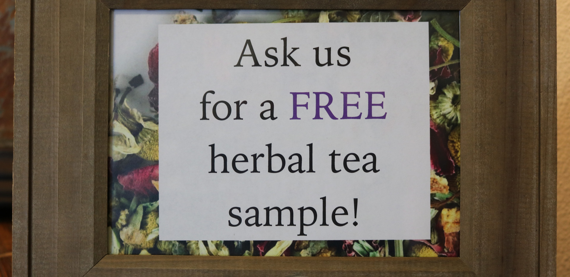 Free Herbal Tea Sample.JPG