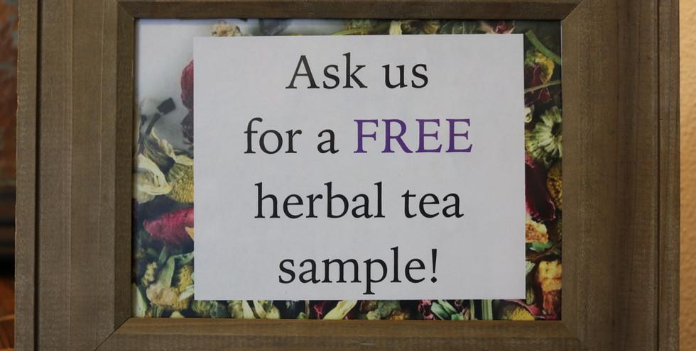 Free Herbal Tea Sample.JPG