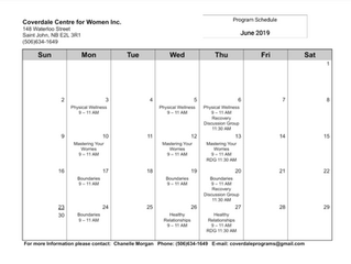 June Program Schedule