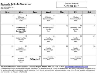 October Programs!