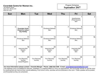 September Programs!