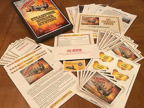 Screaming Steam Steampunk Murder Mystery Party [6-Character] Box_Set