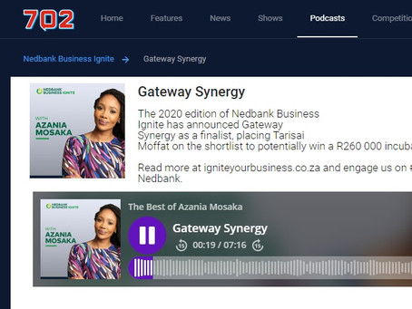 Gateway Synergy finalist in the Nedbank Business Ignite