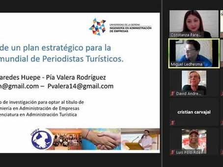 Egresadas presentan resultados de investigación a Organización Mundial de Periodismo Turístico