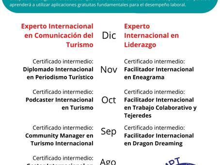 Becas para cualquiera de los cursos 2021 de la Organización Mundial de Periodismo Turístico