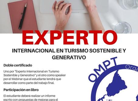 Nuevo curso: Experto Internacional en Turismo Sostenible y Generativo