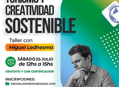 Nuevo taller gratuito y con certificación: Turismo y creatividad sostenible