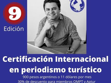 Inscripciones abiertas para 9° Certificación Internacional en Periodismo Turístico