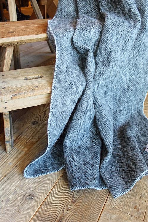 Coperta lana spigato