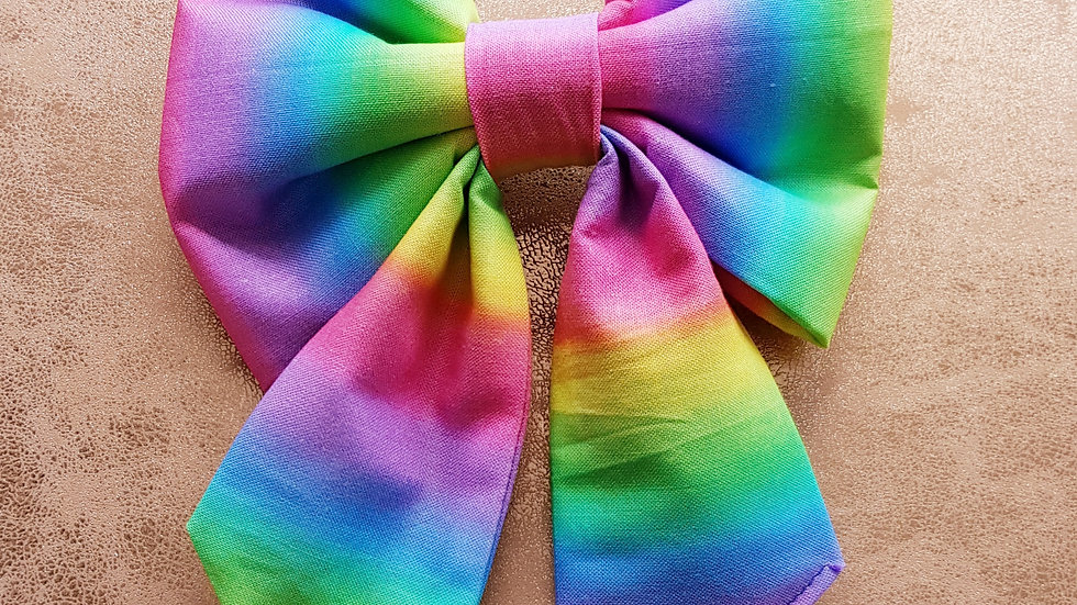 Pastel Rainbow Bow or Bowtie