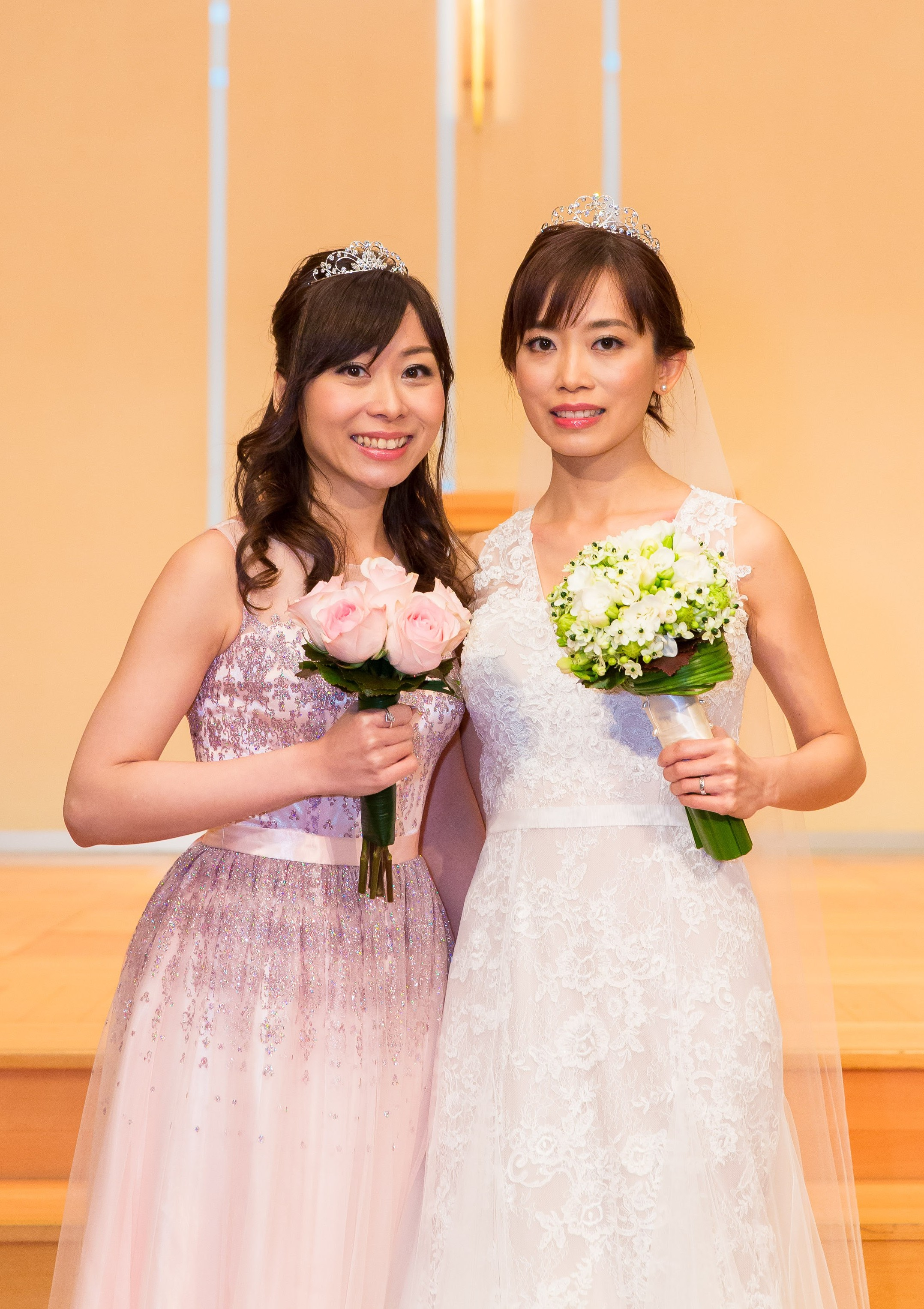 HK bride and bridemaids makeup