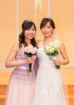 HK bride and bridemaids makeup