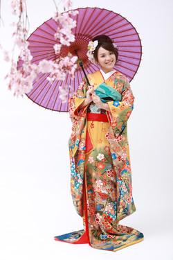 Japanese bridal makeup日本和服化妝髮型