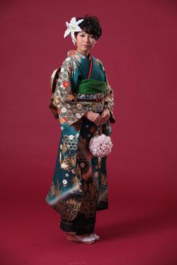 kimono makeup and hair styling日本新娘造型