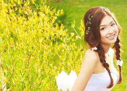 natural bridal styling