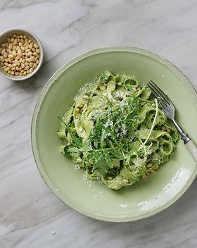 Tagliatelle with Pesto Sauce