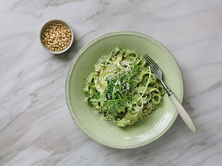 Tagliatelle with Pesto Sauce