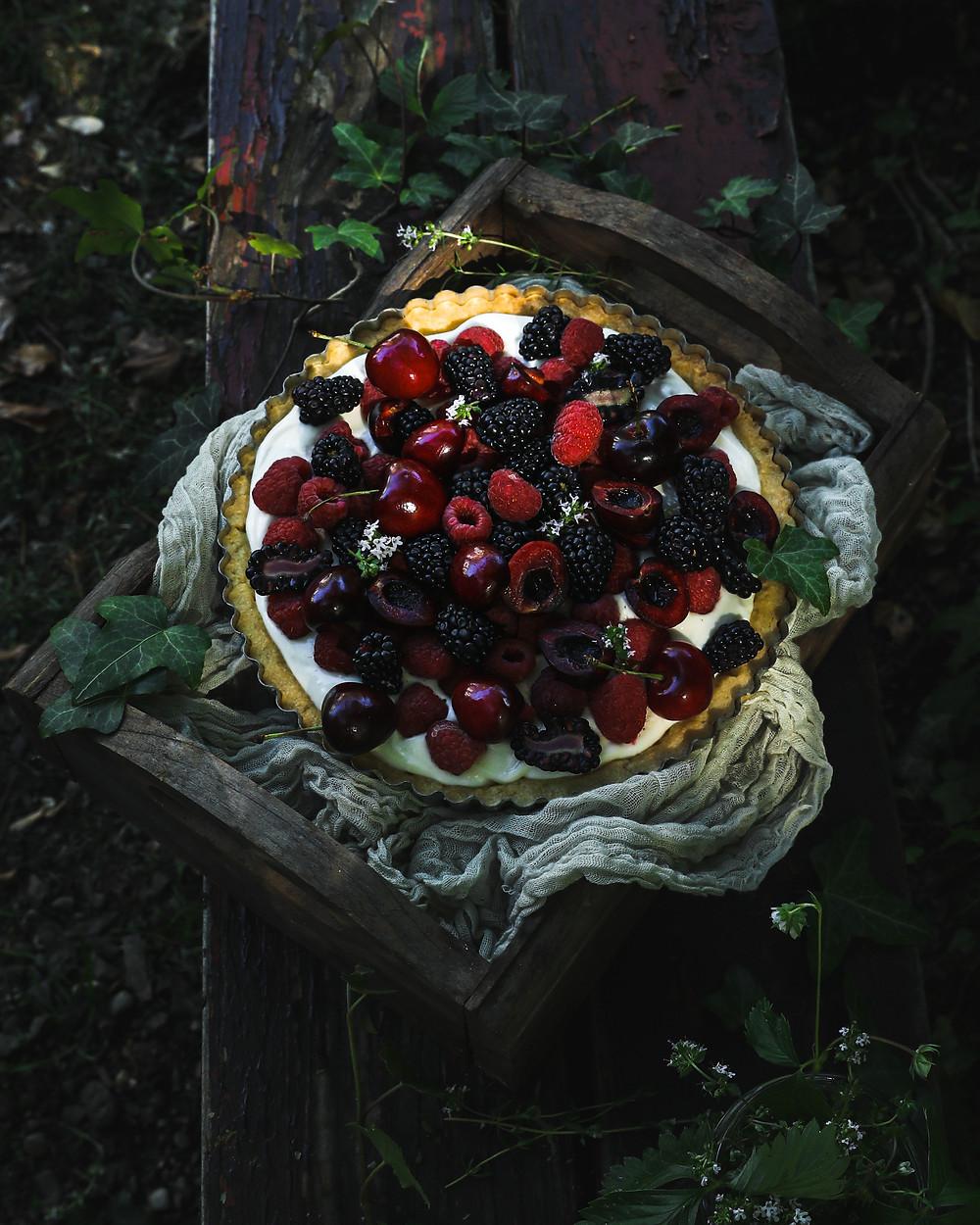 Summer Berry Lemon Tart