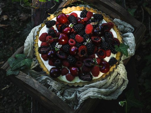 SUMMER BERRY LEMON TART