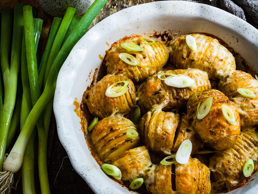 PEPPER JACK HASSELBACK POTATOES