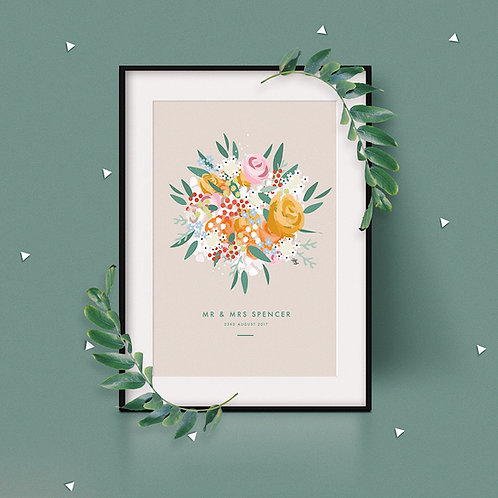 Wedding Bouquet Print