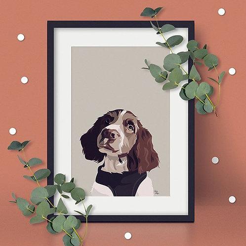 Personalised Peeking Pet Portrait