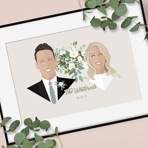 Personalised Wedding Couple Print