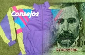 Un billete de 1000 pesetas en el chándal